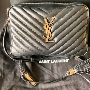 Ysl lou camera bag quilted leather